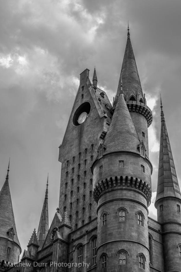 Hogwarts, High-Contrast B&W