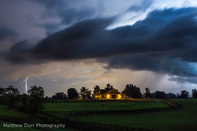 Storm and Farm 32mm, ISO 100, f/5.6, 30 Seconds