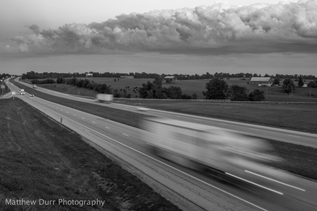 Storm Front on the Freeway 32mm, ISO 100, f/8, 1/4