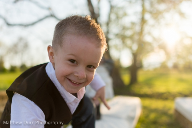 Ring Bearer Playing Around 28mm, ISO 200, f/1.8, 1/4000