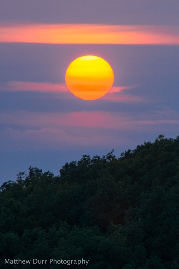Brown County State Park Sunset Nikon 400mm, ISO 100, f/5.6, 1/250