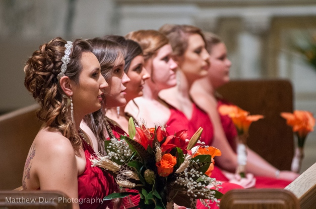 Bridesmaids Nikon 200mm, ISO 3200, f/2.8, 1/125