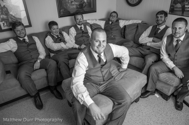 Groom, Front and Center Rokinon 16mm, ISO 400, f/2, 1/125, off-camera umbrella