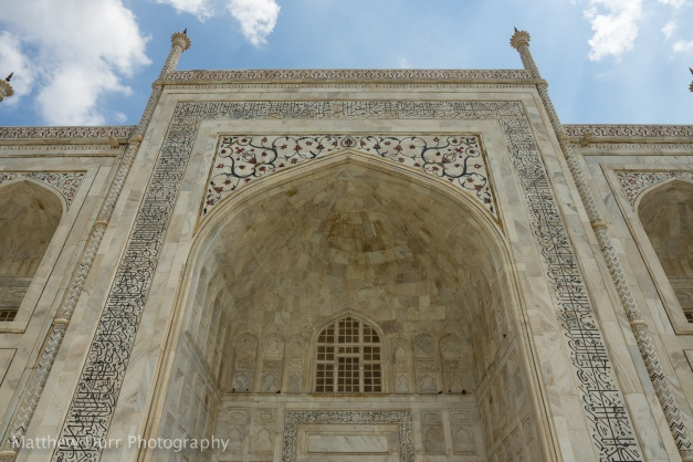 Taj Mahal Front 16mm, ISO 100, f/5.6, 1/640