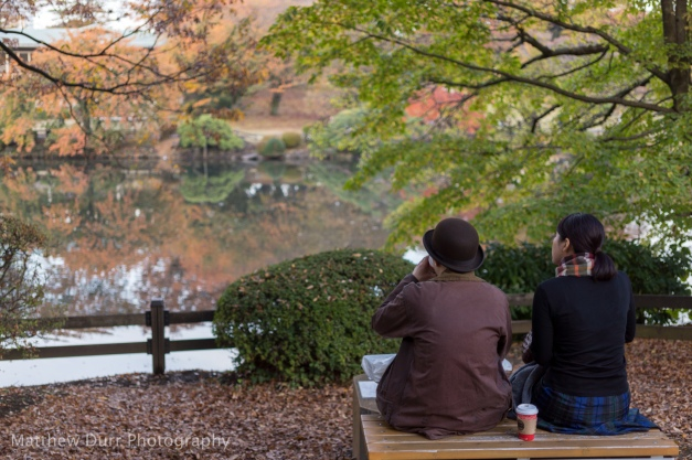 Couple by the Pond 32mm, ISO 100, f/1.8, 1/80