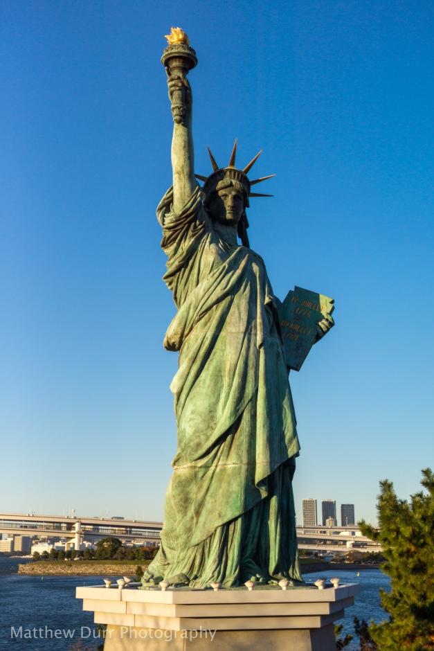 Odaiba Statue of Liberty 32mm, ISO 100, f/1.8, 1/4000