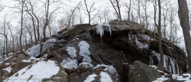 Thawing Waterfall 32mm, ISO 100, f/5.6, 1/80, 58 images stitched